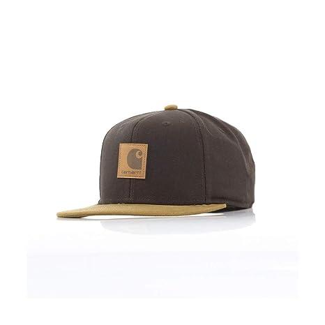 Carhartt I025735 Logo Cap bi-colored cappello con visiera Hamilton Brown ab8fcedac766