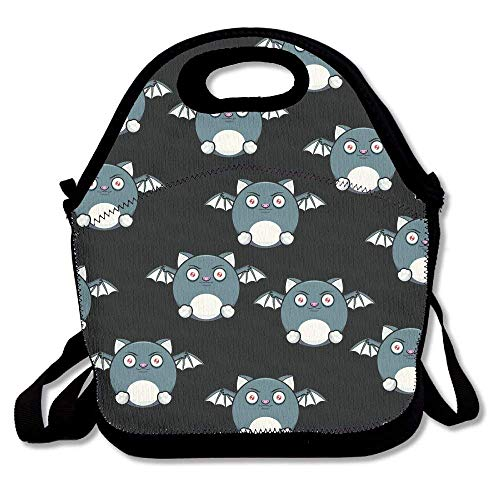 HGDGF Variety Daily Halloween Bat Lunch Modern Simple Pleasantly Surprised Bag Bags Modern Simple Pleasantly Surprised Lunch Handbag Lunchbox Box For Expedient Outdoors Carrying£¬ Printing