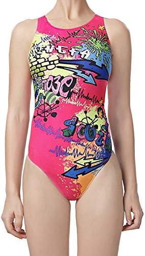 ファッション レディースレディース水着、100%塩素フリー、スイミングコスチューム、水着フラットシーム、コスチュームワンピース エレガント