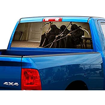 Amazon.com: P490 Skulls Skull Tint Rear Window Decal Wrap ...