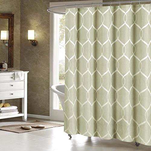 - Duck River Textiles - Home Decorator Mildew Resistant Fabric Shower Curtain Liner Waterproof | Water Repellent & Antibacterial - 70 X 70 Inch - Sage Green