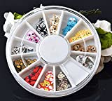 120PcsDeluxe Popular 3D Random Mixed Fimo Nails Art Wheel Polymer Clay Slices Colorful Manicure Accessory Cellphone Decor Type Cartoon
