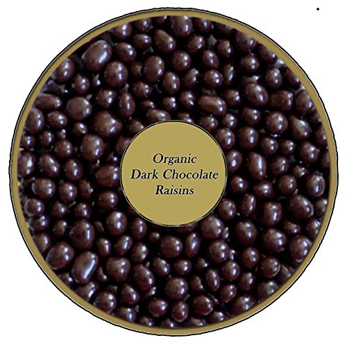 Organic Dark Chocolate covered Raisins by Healthy Nut Factory