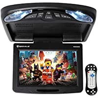 Rockville RVD12HD-BK 12 Black Flip Down Car Monitor DVD/USB/SD Player + Games