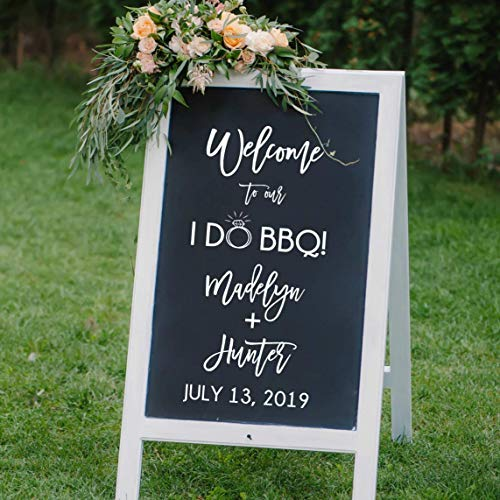 Amazon com: I DO BBQ Reception Welcome Decal, BBQ Wedding