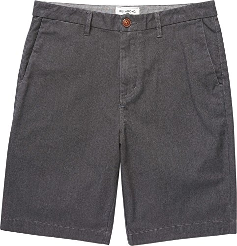 Billabong Little Boys' Chino Stretch Walkshorts, Black Heather, 7XL Black Chino Walkshort