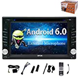 EinCar Quad Core 6.2'' Android 6.0 Marshmallow Car Stereo Touch Screen Radio CD DVD Player 2 Din In Dash GPS Navigation System Support 1080P Video Mirror-Link WiFi OBD2 with Free External Microphone
