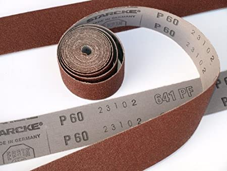 25mm x 50 metre workshop economy abrasive cloth backed sanding rolls. P40