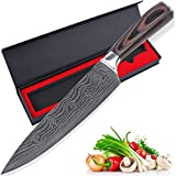 Chef Knife, AUGYMER 8 Inch Professional Chefs Knife High Carbon Stainless Steel Kitchen Sharp Chefs Knife (AUCK645)