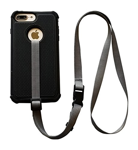 foneleash 3 in 1 Universal Cell Phone Lanyard Neck Wrist and Hand Strap Tether (Shade of Gray)