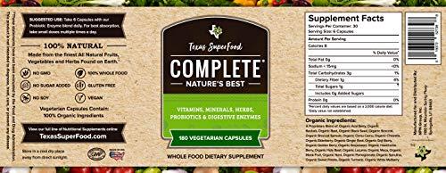 Amazon Com Texas Superfood Complete Organic Capsules Organic