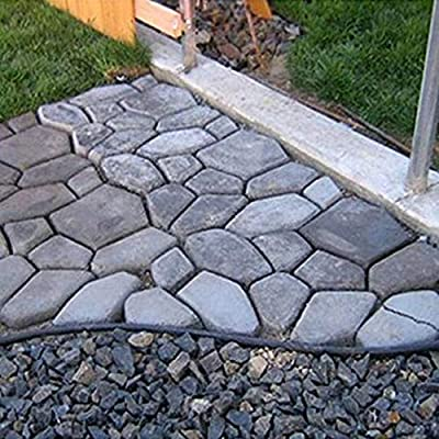 Peanutaso Calzada de Bricolaje Pavimento de pavimento de plástico Molde de Piedra Paso a Paso de hormigón Pavimentadora de moldes Herramienta Decorada de jardín: Amazon.es: Hogar