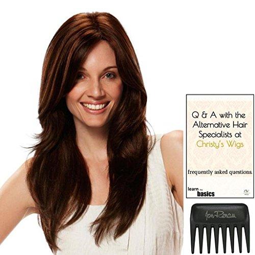 Amanda Wig by Jon Renau, 15 Page Christy's Wigs Q & A Booklet, and Jon Renau Wide Tooth Comb by Jon Renau & Christy's Wigs