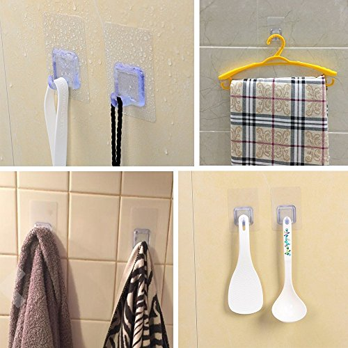 From usa adhesive transparent heavy duty wall hooks Hanging heavy pictures without nails