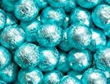 Caribbean Blue Foiled Milk Chocolate Balls 5LB Bag by The Nutty Fruit House