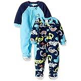 Gerber Baby Boy 2 Pack Blanket Sleeper, dino, 24 Months