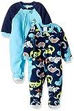 Gerber Baby Boy 2 Pack Blanket Sleeper, Dino, 24