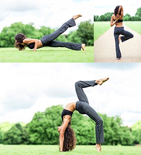 Yogipace 27''/28''/29''/30''/31''/32''/33''/35''/37'' Inseam,Petite/Regular/Tall, Women's Bootcut Yoga Pants Long Workout Pants, 28'', Black Size XXL by Yogipace (Image #6)