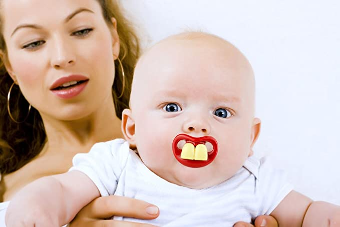 Amazon.com: Funny Baby Bigote Chupete: lindo bebé Chupetes ...