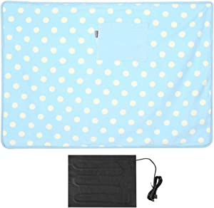 Yosooo Electric Heated Blanket,Multifunctional USB Heated Warm Blanket Portable Knee Blanket for Car Home Pet Use 5V (Blue)