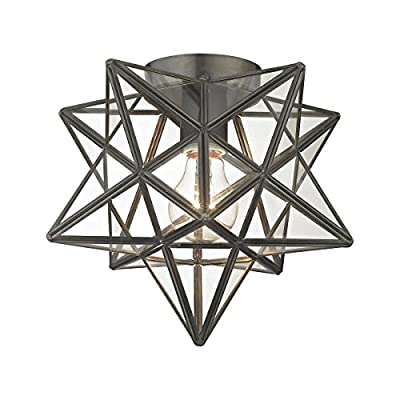 Elk Lighting 1145-005 Close-to-Ceiling-Light-fixtures, Bronze, Clear