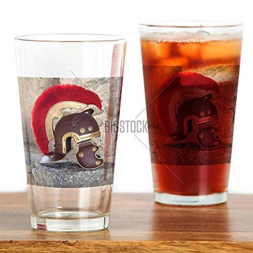 [CafePress - Roman helmet Drinking Glass - Pint Glass, 16 oz. Drinking Glass] (Ancient Roman Soldier Costume)