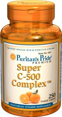 Puritan's Pride Vitamin C-500 Complex-250 Coated Caplets