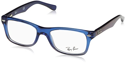 f4324e43d9 Ray Ban Kinder Korrektionsbrille RY1531 Top Black on Transparent  Rayban  Junior  Amazon.de  Bekleidung