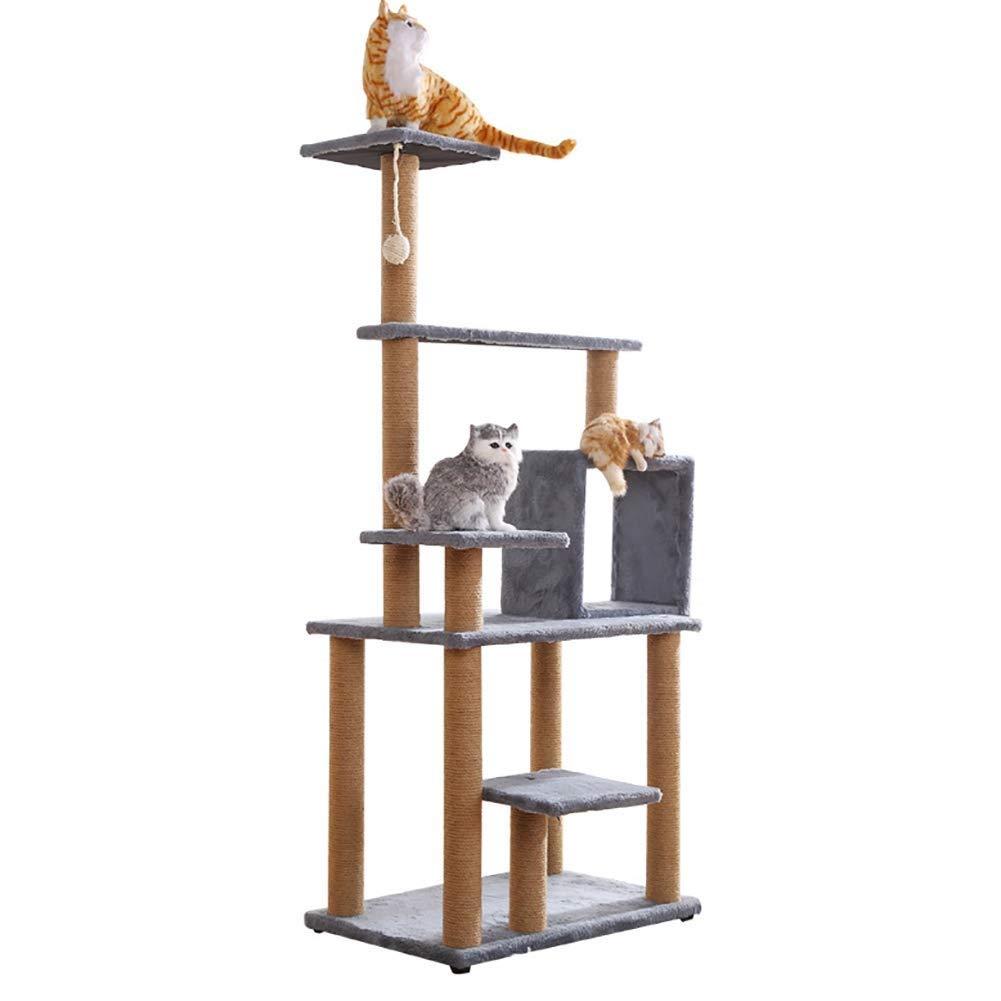 G  Ldlms Pet fornisce Cat Tree, Condo Furniture Bed Multi -layer platform design Flannel letter Soft e confortevole giocattolo Fun Aggiungi divertimento al gatto stringa di canapa Bold Durable (colore: G )