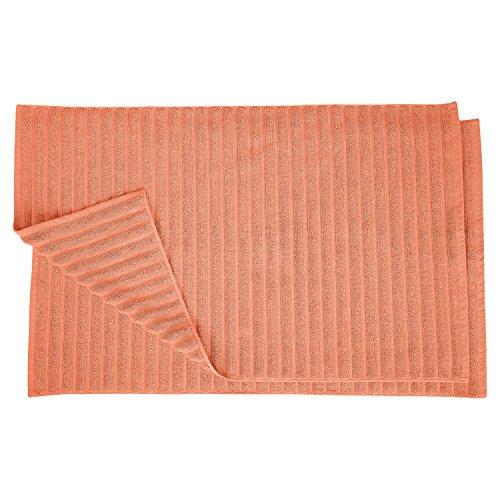 (Superior Bath Mats Set 1000 Gram Long-Staple Combed Cotton for Bathroom, 2 Piece, Coral)