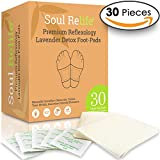 Soul Relife | Premium Lavender Foot Pads | 30-Pack | Odor Free - No Smell | Includes 30 Adhesive Feet Patches & Sheets | for Foot Care, Cleansing, Sleeping & Anti-Stress Relief