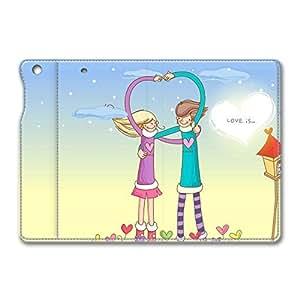 Brain114 iPad Mini Leather Case - Slim Flip Case Cover for iPad Mini Love Is Happiness - Auto Wake Up/Sleep Function New