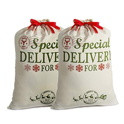 2 Pack Santa Sacks Personalized