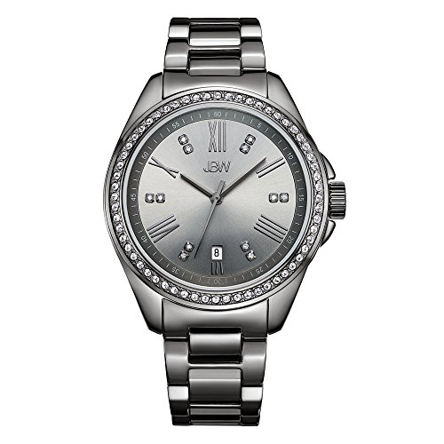 "picture of JBW Women's Capri J634""E Gun Metal Diamond Watch"
