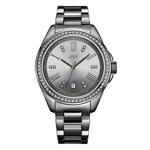 JBW Women's Capri J6340E Gun Metal Diamond Watch