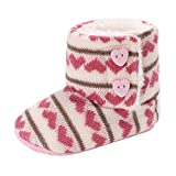 Weixinbuy Toddler Baby Shoes Boys Girls Winter Warm Knit Soft Snow Boots Booties