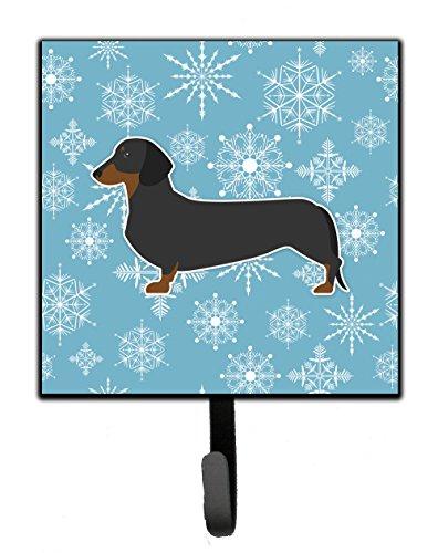 Dachshund Leash Holder (Caroline's Treasures BB3482SH4 Winter Snowflake Dachshund Leash or Key Holder, Small, Multicolor)