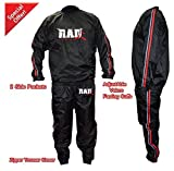 RAD Heavy Duty Sweat Suit Sauna Exercise Gym Suit Fitness Weight Loss Anti-Rip Red (Medium) Review