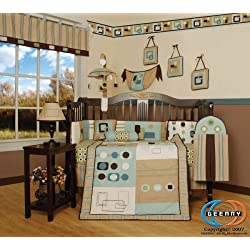 GEENNY Baby Boy Artist 13PCS CRIB BEDDING SET