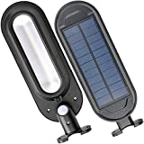 Solar Security Lights, Super Bright 18 LED Outdoor Garden Light Waterproof 4 Mode Wall Lamps with PIR Motion Sensor for Patio Walkway