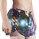 "Mens Stretch 1"" Elite Printed Split Leg Short"