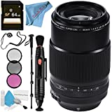 Fujifilm XF 90mm f/2 R LM WR Lens 16463668 + 72mm 3 Piece Filter Kit + 64GB SDXC Card + Lens Pen Cleaner + Fibercloth + Lens Capkeeper + 70in Monopod + Deluxe Cleaning Kit Bundle
