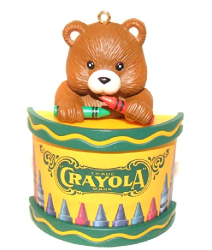1992 Binney & Smith Crayola Crayons Bear Christmas Tree Ornament (Crayola Ornament)