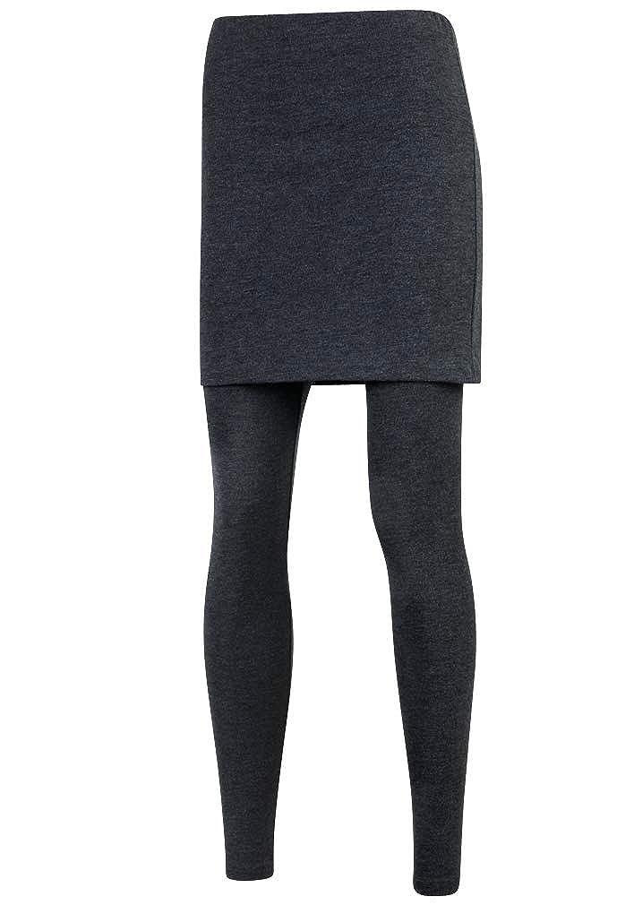 ililily Slim H Line Skirt Active Footless Leggings S-2XL Size Elastic Long Skinny Pants