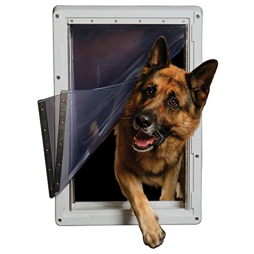 Ideal Pet Products Designer Series Ruff-Weather Pet Door with Telescoping Frame, Super Large, 15'' x 23.5'' Flap Size by Ideal Pet Products (Image #1)
