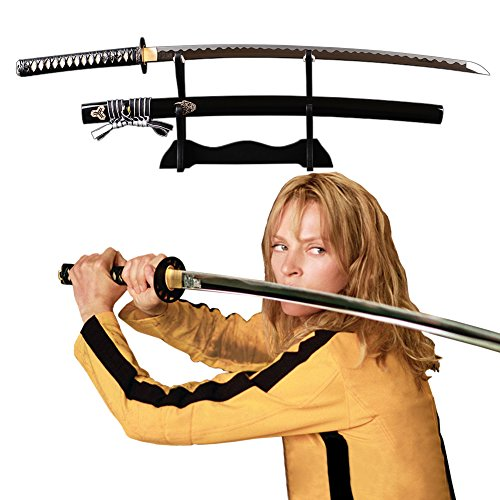 Kill Bill Samurai Sword Katana Japanese Real Sharp Handmade Manganese Steel