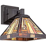 Quoizel TFST8701VB Stephen Tiffany Wall Sconce Lighting - 1-Light - 100 Watt - Vintage Bronze (10