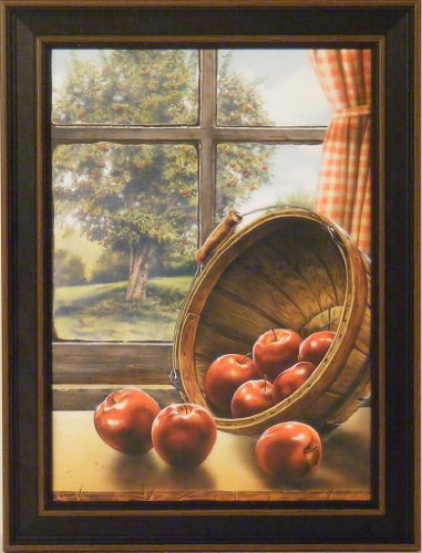Red Delicious by Doug Knutson 12x16 Apples Bushel Tree Art Print Wall Décor Framed Picture (Large Primitive Pictures)