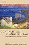 img - for Continuity and Change in EU Law: Essays in Honour of Sir Francis Jacobs book / textbook / text book