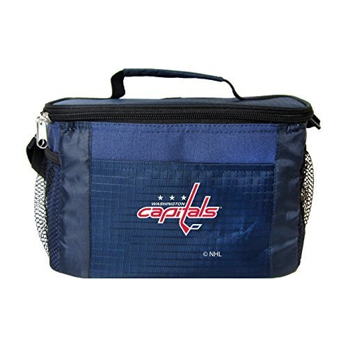 New NHL Hockey 2014 Team Color Logo 6 Pack Lunch Tote Bag Cooler - Pick Team (Washington Capitals)